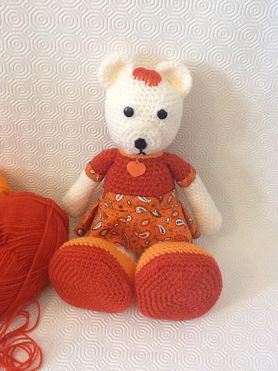Amigurumi bear baby girl by EvalestAmigurumi on Etsy