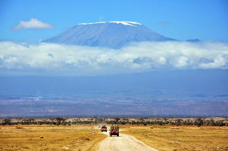 Monte Kilimanjaro visto de Amboseli, no Quênia