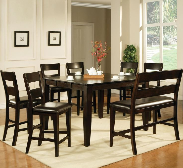 victoria 8 piece counter height dining set by steve silver knight furniture dining 7. Interior Design Ideas. Home Design Ideas