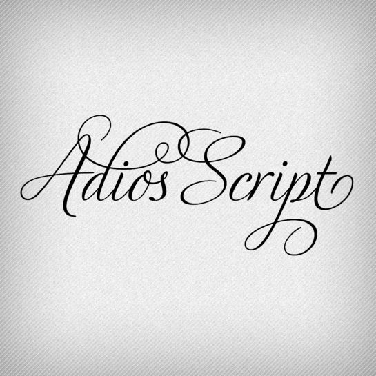 Adios Script Pro by Ale Paul. A typeface that is perfect for weddings.