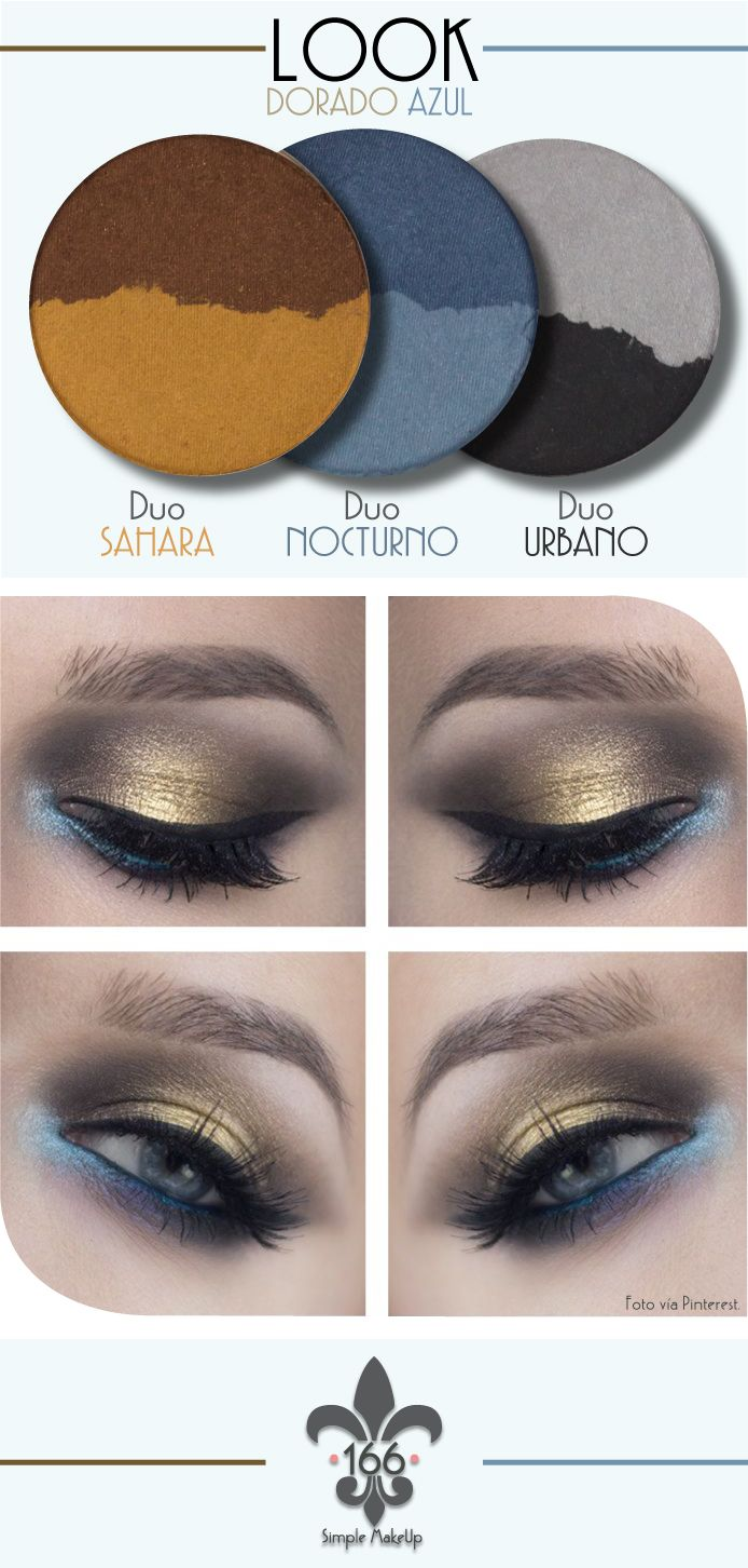 look para llamar la atencin combinacin dorado azul el mejor maquillaje para una