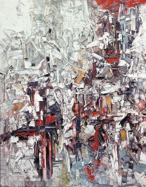Jean Paul Riopelle, Labours sous la neige, vers 1957, huile sur toile, 162 x 130 cm