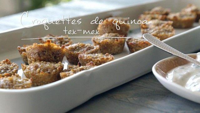 Croquettes de quinoa tex-mex