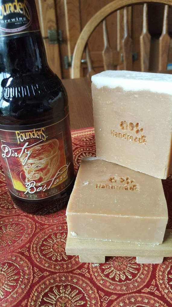 Dirty Bastard Beer Soap Made with Dirty Bastard Beer from Founders Brewery Soap, , handmade, Gift Idea