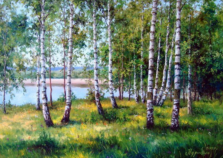 Distese di campagna. Artista Sergei Kuritsyn .. Discussione sulla LiveInternet…