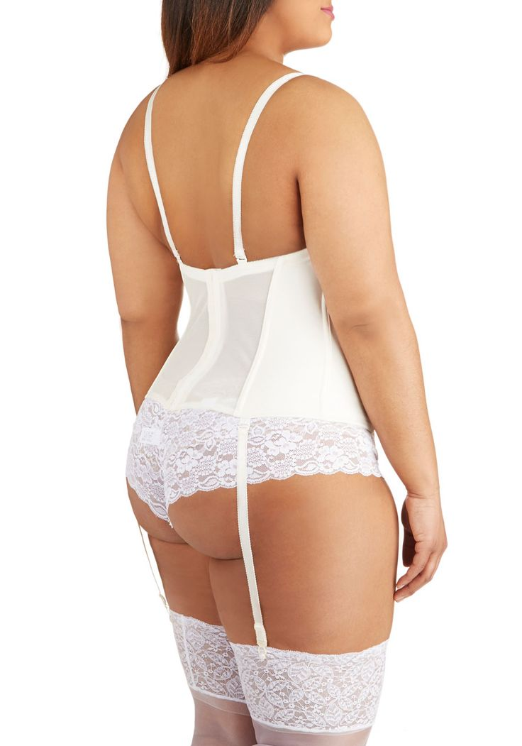 Gown Time Corset in Waist Length - Plus Size. On a day dedicated to finding the perfect gown, this seamless corset is your miracle undergarment! #wedding #bride #modcloth