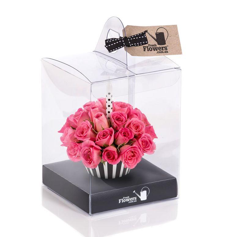 Roses - Pink Birthday Cupcake