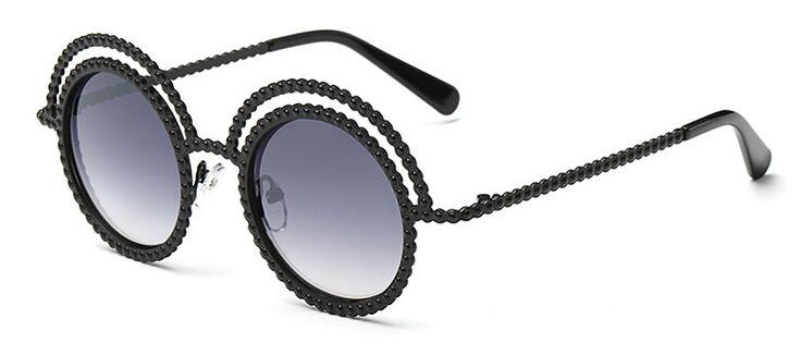 New fashion female personality sunglasses European American fashion round frame sunglasses