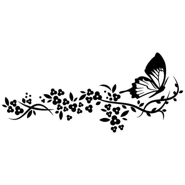 Wandtattoo »Schmetterlingsflug«