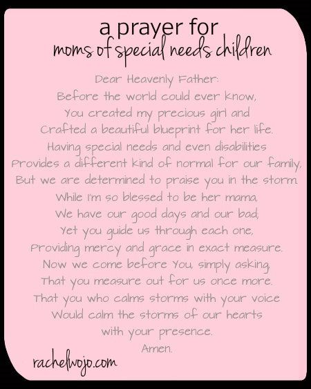 A Prayer for Special Needs Moms & Whimsical Wednesday Blogger Linkup - RachelWojo.com