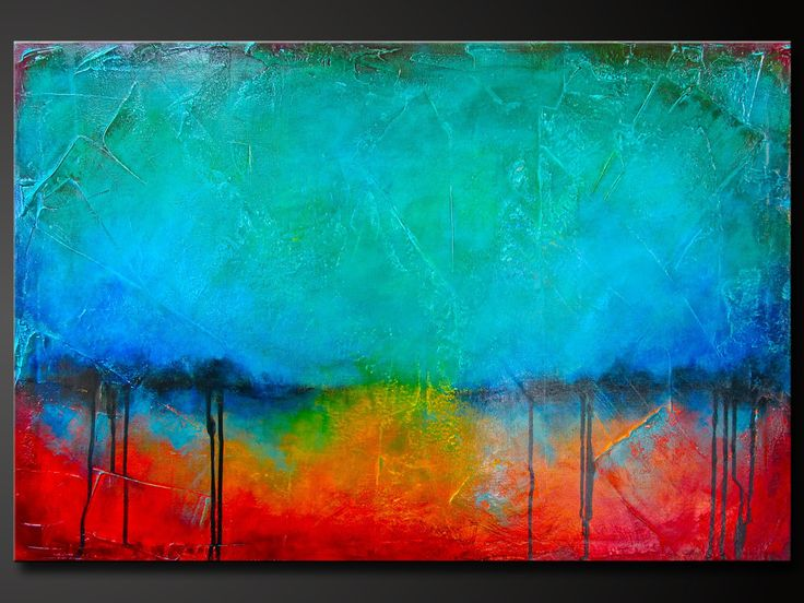 Oxidized Metal 10- Abstract Acrylic Painting on Canvas - 36 x 24 - Highly Textured - Contemporary Modern Wall Art. Charlen Williamson