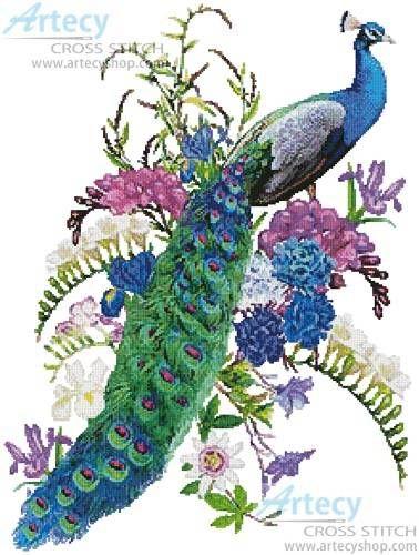 Proud as a Peacock cross stitch pattern.