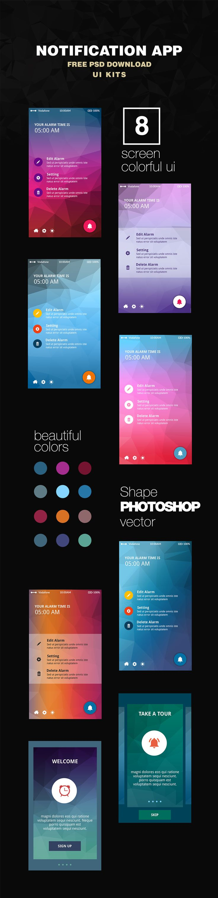 df5b11e667b1cae407b7b43664ba5d6f--notification-app-appdesign Template App Design Android on home screens, different utility ios, card view background, menu concept,