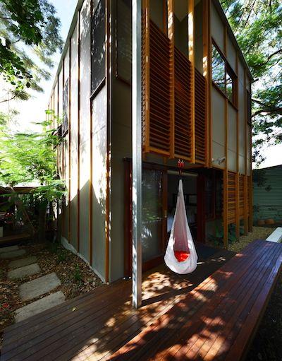 Modern home renovation utilizing square design pattern