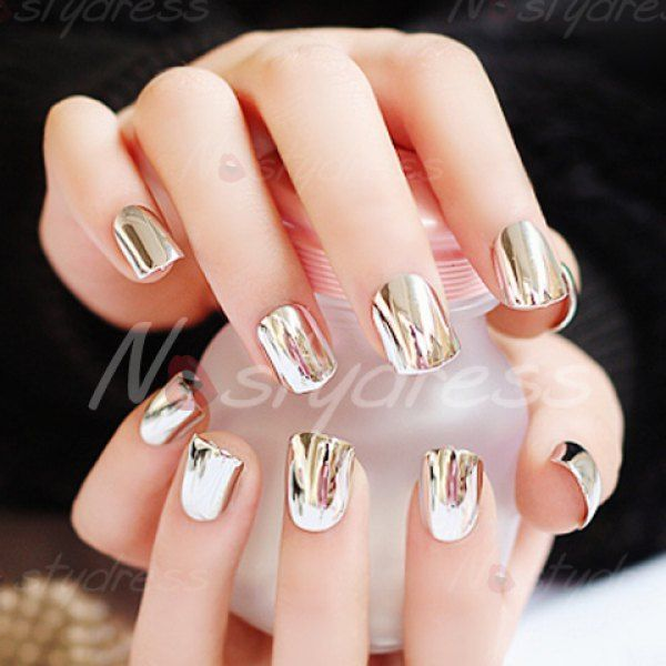 The 25 best solid color nails ideas on pinterest nails 24 pcs chic punk style solid color nail art false nails prinsesfo Image collections