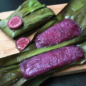 Purple sweet potato rice cakes