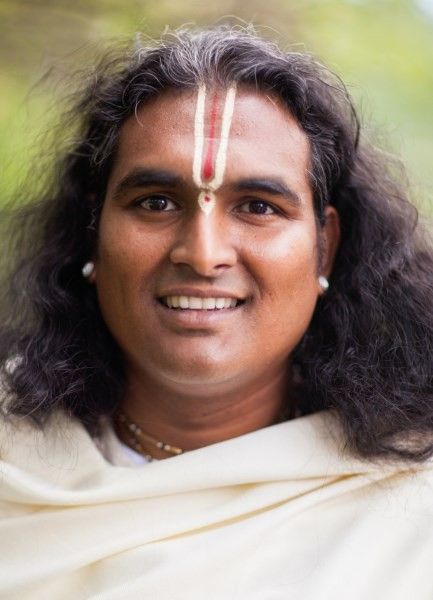Sri Swami Vishwananda in white #1, a photo from Gurupurnima 2012
