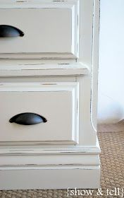 DIY- Painting distressed white finish