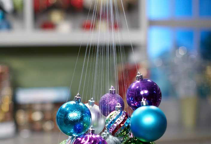 How Make Hanging Ornament Chandelier