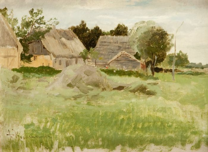 Roman Kazimierz Kochanowski - Pejzaż z chatami