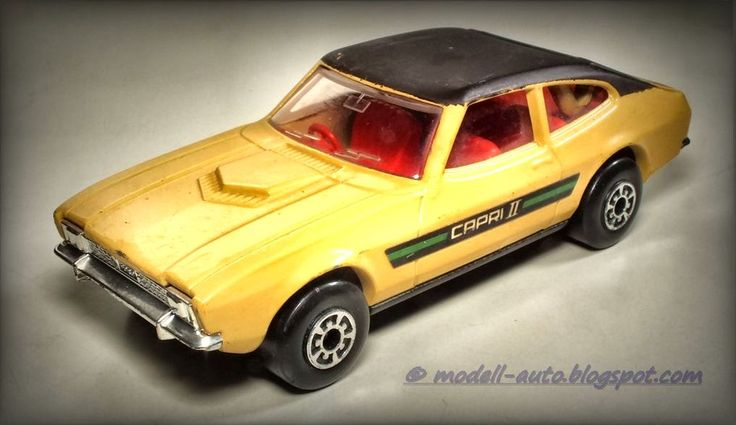 Lesney Matchbox Speed Kings Ford Capri II England Decals 1976