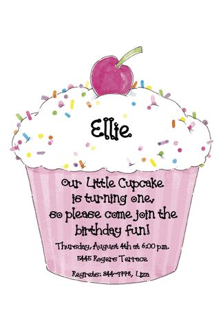 Invitation idea  Our little cupcake's cupcake themed birthday party