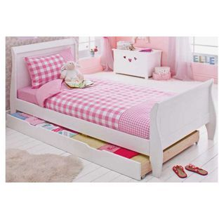 Hannah Sleigh Single Bed Frame With Storage From Homebase