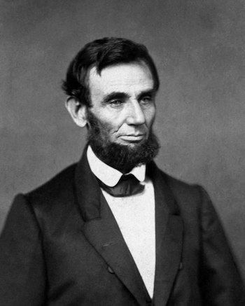 Lincoln's first official portrait as President of the United States of America.