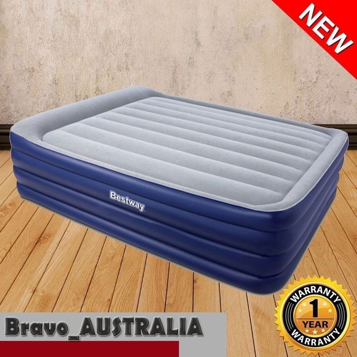 BESTWAY QUEEN AIR BED INFLATABLE MATTRESS BUILT-IN ELECTRIC PUMP CAMPING