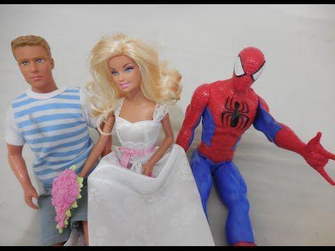 Casamento da Barbie Noiva Boneca Mattel Spiderman Homem Aranha Marvel Ke...