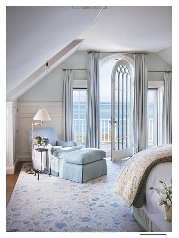 Victoria Hagan Beach House Interior Design Light Blue Bedroom Love The Door