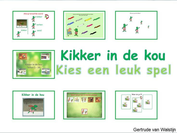 Digibordles: 7 verschillende spelletjes over Kikker in de kou.