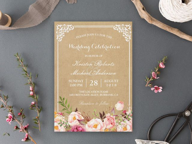 18 Rustic Invitation Ideas For Your Outdoor Wedding