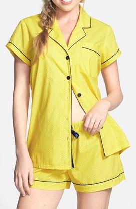 yellow zest pin dot pajamas  http://rstyle.me/n/mvi56pdpe