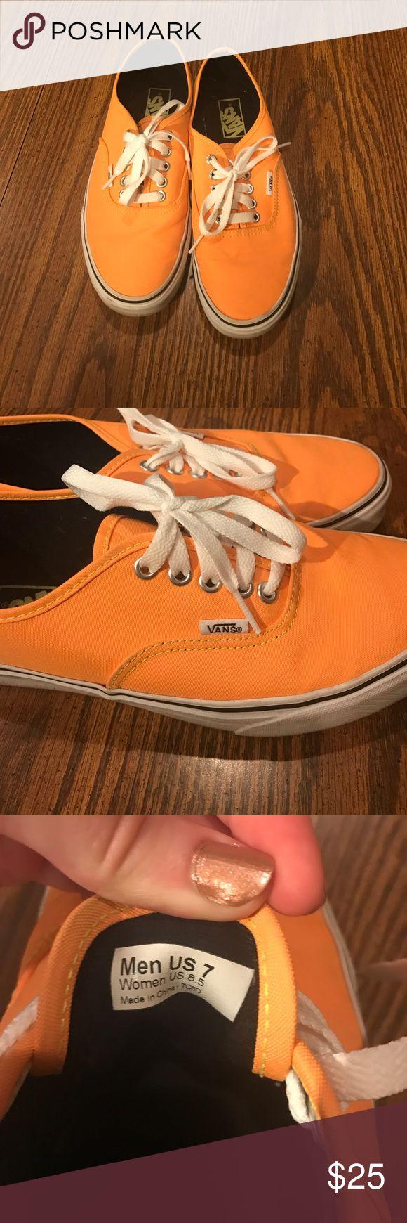 Orange vans Men's 7 women's 8.5 orange vans Vans Shoes Sneakers
