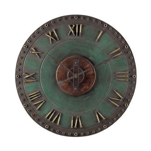 Metal Roman Numeral Outdoor Wall Clock. - 128-1004