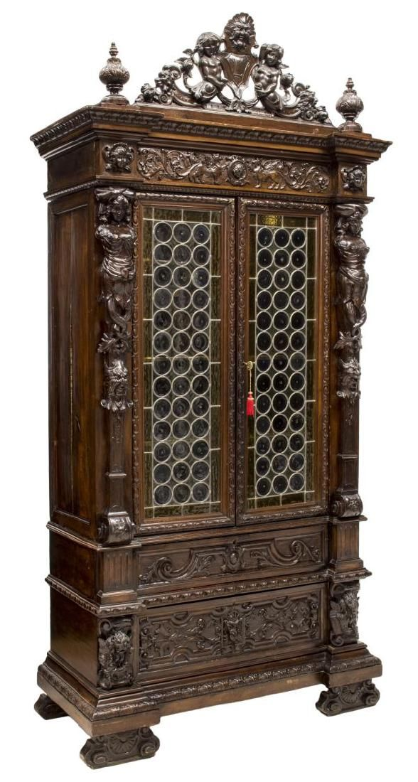 19th Century Italian Carved Cabinet.