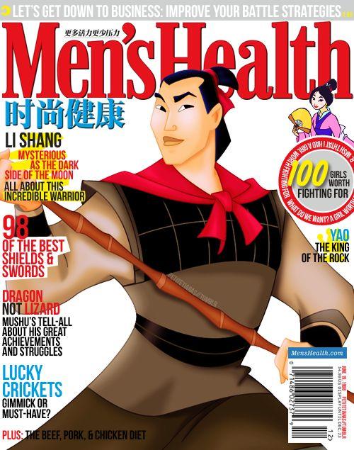 Li Shang: Disney Prince, Prince Magazines, Men Health, China Men, Covers Photos, Li Shang, Disney Men, Magazines Covers, Disney Magazines