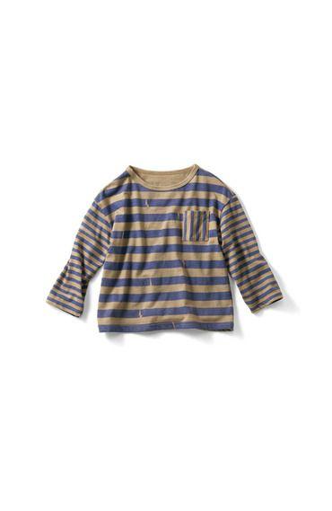 Fashion collection[ファッションコレクション] PBP×cokitica×ano:ne 絵本になったしましまトップス×バンダナセット〈キッズ〉 フェリシモ