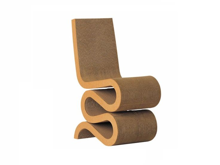 Sedia in cartone WIGGLE SIDE CHAIR Collezione Easy Edge by Vitra design Frank Owen Gehry