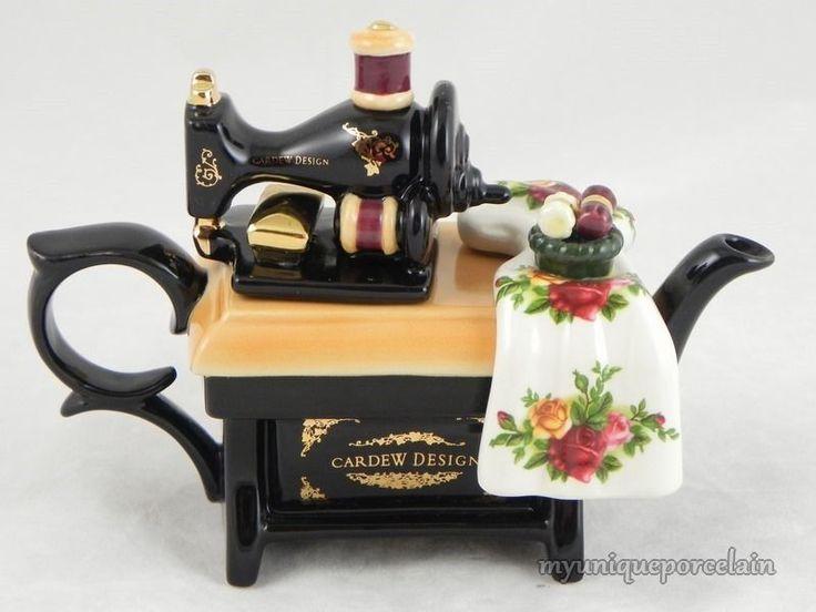 sewing machine teapot