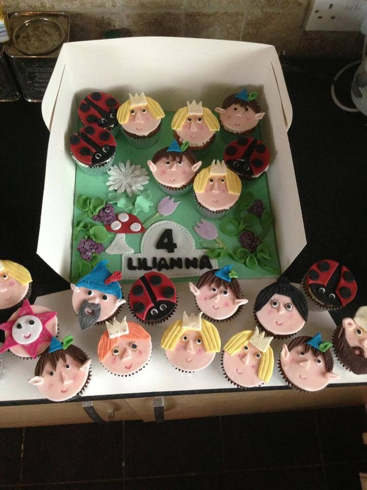 Ben and hollies little kingdom cupcakes..... All handmade toppers