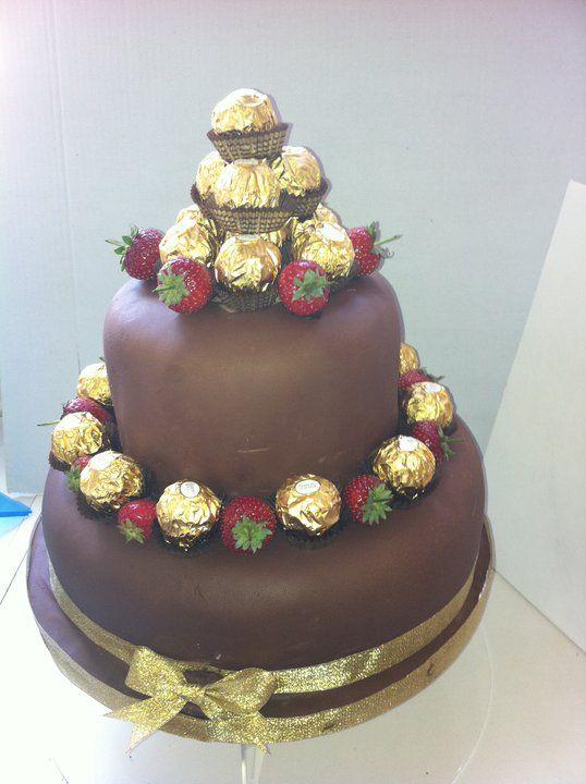 Chocolate Ferrero Rocher Cake - Chocolate Ferrero Rocher Cake made for a lady's suprise 40th Birthday
