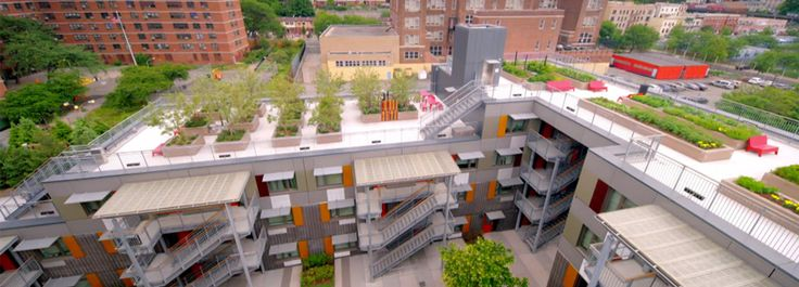 inside grimshaws via verde an apartment complex in the bronx topped with green roofs
