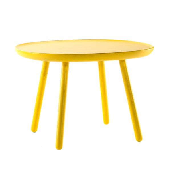The Naïve side table 64 by EMKO is beautifully made in solid ash, either oiled or lacquered in a selection of colours. This modern design is also available in two other sizes, and all three sizes are available together as a nest.