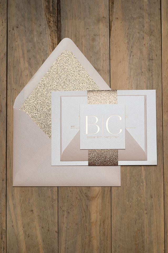INVITE OF THE MONTH SALE!!!! 30% Off all month long!! BLAIRE Suite // STYLED // Glitter Package, Glitter Wedding Invitations, Trendy Wedding Invitations, Schaumburg Illinois Design Studio, Blush and Champagne Wedding, Block Font Wedding Invitations, Foil Stamped Wedding Invitations
