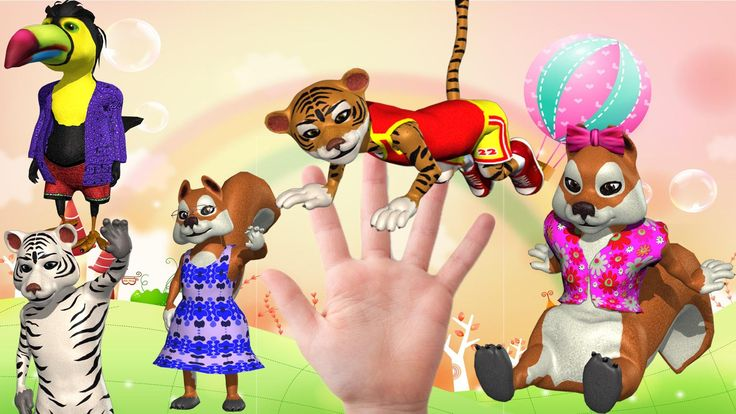 Finger Family 3D Animals Nursery Kids Rhymes | Funny 3d animals HD Child...