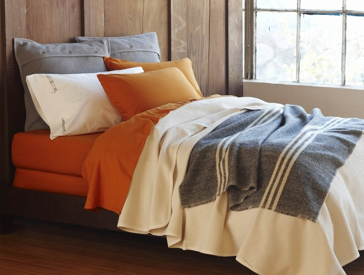 High Noon Collection | Bedding Collections | Bedding | Coyuchi: Bedrooms Colors Schemes, Natural Colors, Burnt Orange, Organizations Cotton, Organizations Beds, Beds Collection, High Noon, Beds Sets, Bedrooms Ideas
