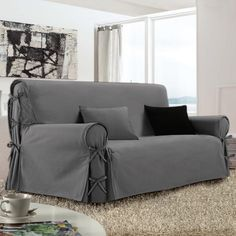 Housse de canapé 3 places Victoria Gris