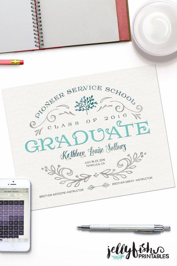 2015 Pioneer School Graduate Keepsake by JellyfishPrintables